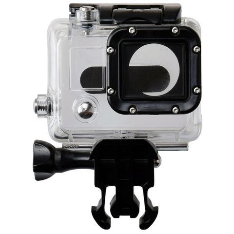Network Shop Case Protettivo Waterproof Clear Per Camera Gopro Hd Hero 3 / 3+ / 4 Black