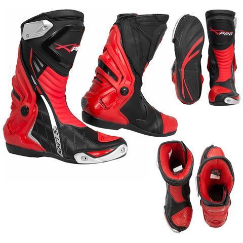 Stivali Omologati Ce Moto Quad Motocross Touring Sport Rosso 40
