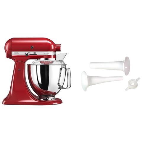 Robot da Cucina Artisan 5KSM175PSEER Colore Rosso Imperiale + Set per Insaccare 5SSA