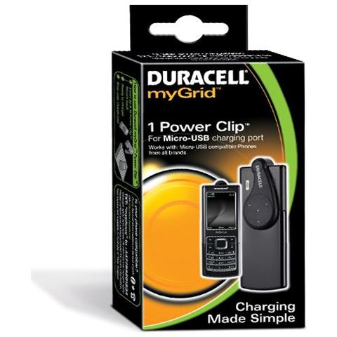 DURACELL Caricabatteria per cellulare Duracell myGrid micro