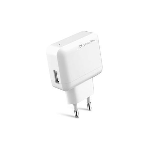 CELLULAR LINE Caricabatterie da Rete Ultra 2.1A - Bianco