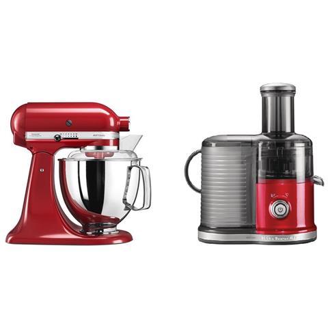 Robot da Cucina Artisan 5KSM175PSEER Colore Rosso Imperiale + Centrifuga 5KVJ0332EER Colore Rosso Imperiale