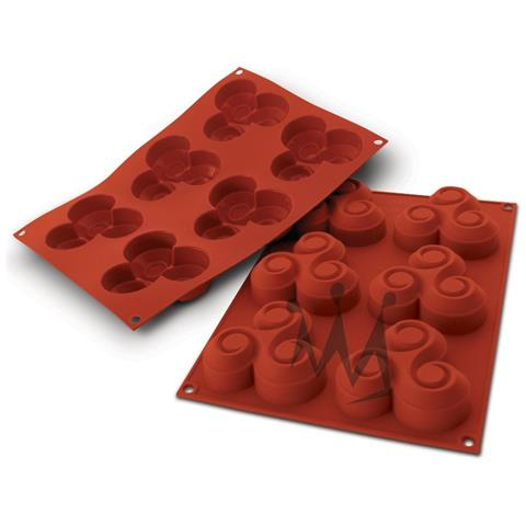 Sf064 - Silicone Nr. 6 Triskell 90 X 90 H 23 Mm Terracotta Moldeo