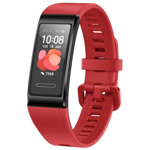 Activity Tracker Band 4 Pro Display 0.95'' Bluetooth con GPS Cardiofrequenzimetro Impermeabile 5 ATM - Rosso