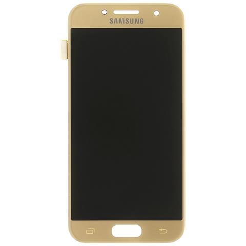 Lcd + Touch Display Gold Oro Originale Samsung Per Galaxy A3 2017 Sm-a320f + Kit