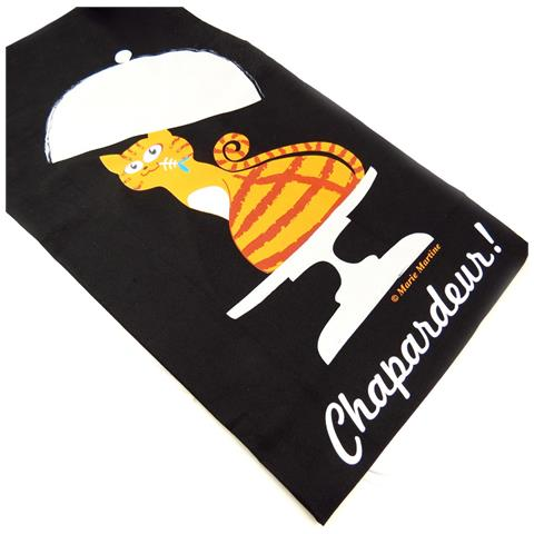 grembiule 'french touch' 'chapardeur' nero - [ k6229]