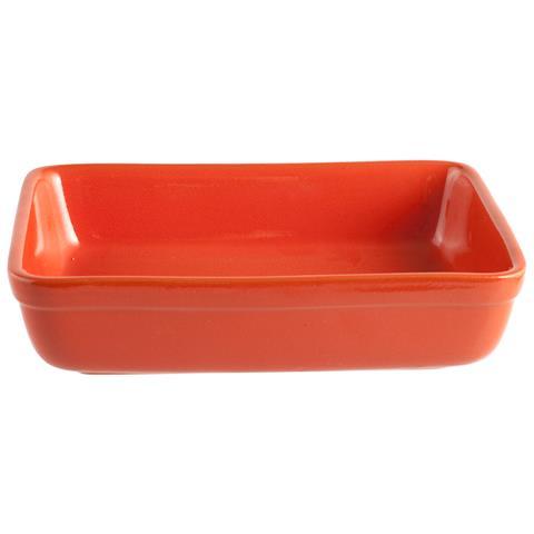 HOME Pirofila Rettangolare Dimensioni 25x18 cm Arancione