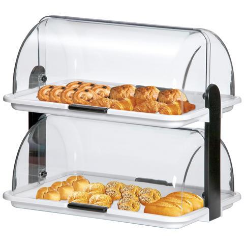 Vetrinetta portabrioches e panini DOPPIA A500405