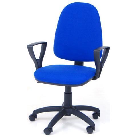 HOMEGARDEN Poltrona operativa blu da ufficio per studio da cameretta