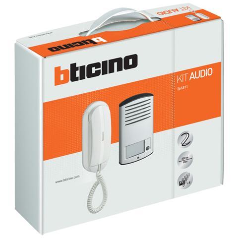 Image of Kit Audio 2 Fili Monofamiliare Con Pulsantiera Linea 2000 Da Parete E Citofono Sprint L2. Il Citofono