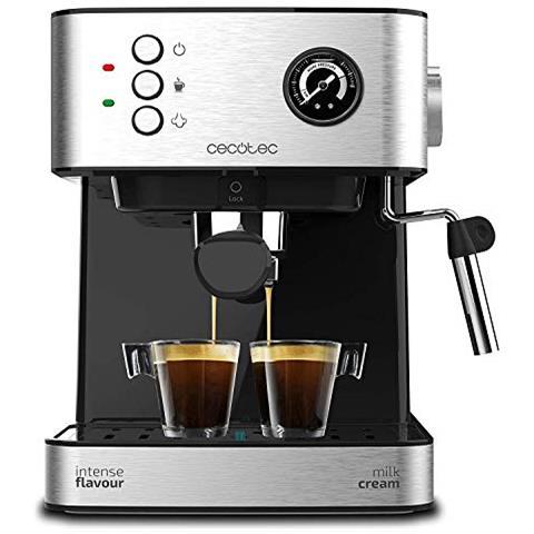Caffettiera Express A Leva Power Espresso 20 Professionale 1,5 L Argentato Nero V1704581