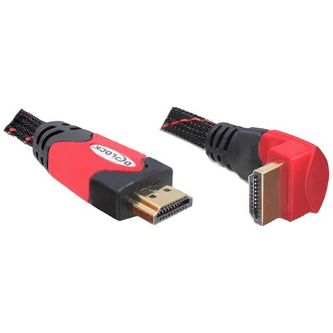 DeLOCK 1m HDMI 1m HDMI HDMI Nero, Rosso cavo HDMI