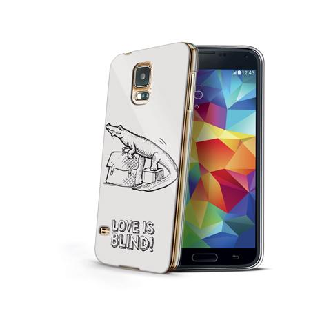CELLY Cover Love is Blind per Galaxy S5 Mini - Croco