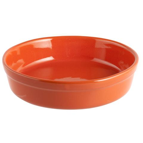 HOME Pirofila Tonda Diametro 25 cm Arancione