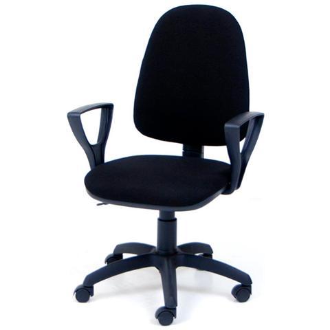 HOMEGARDEN Poltrona operativa nera da ufficio per studio da cameretta