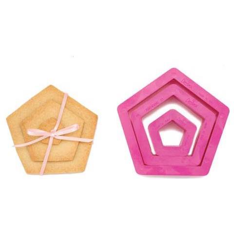 Set 3 tagliapasta pentagono 1,5-3,5-5h. 2,2cm