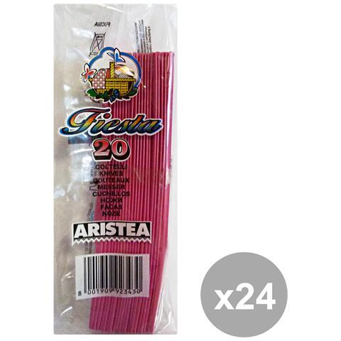 GNP Set 24 Coltelli Colorato 20 Pezzi Fucsia Art. 792343 Posate
