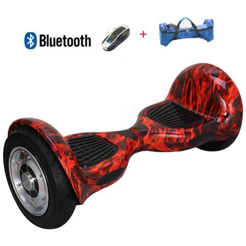 Image of 10 Pollici Hoverboard Smart Balance Monopattino Elettrico Pedana Scooter Bluetooth Due Ruote Con Batteria Samsung Fire