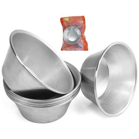 Vespa Confezione 6 Formine Alluminio Timball 7.5x3 Attrezzi Pasticceria