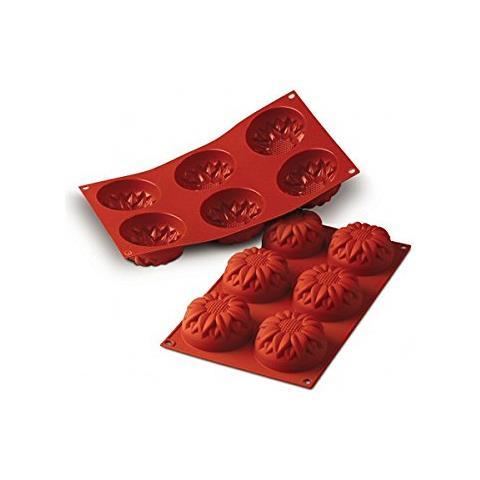 Sf076 - Silicone Nr. 6 Girasoli Grande À76 H 40 Mm Terracotta