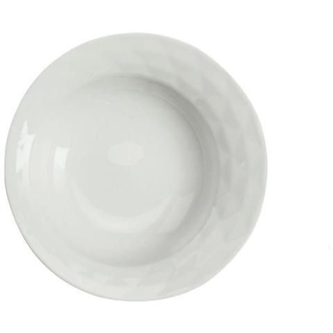 Piatto Fondo Colore Bianco Diametro 22 cm - Linea Diamante