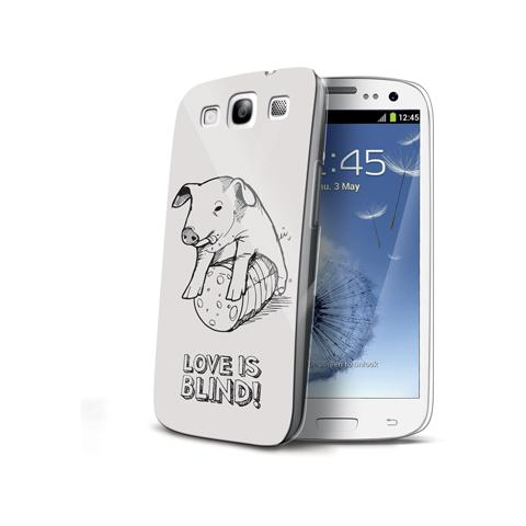 CELLY Cover Love is Blind per Galaxy S3 / S3 Neo - Pig
