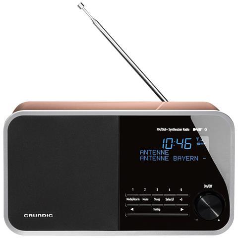 GRUNDIG Radio Digitale DTR 4000 Bluetooth Sintonizzatore DAB+ / FM Ingresso AUX Colore Nero e Oro Rosa