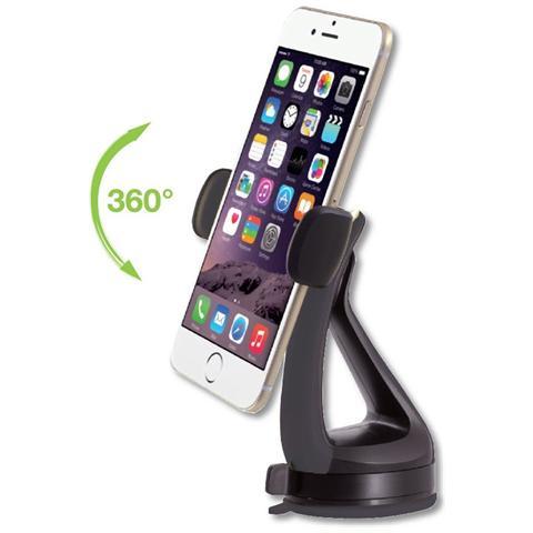TECHLY I-SMART-VENT51 - Supporto da Auto per iPhone e Smartphone 3.0''-6.0'' con Ventosa