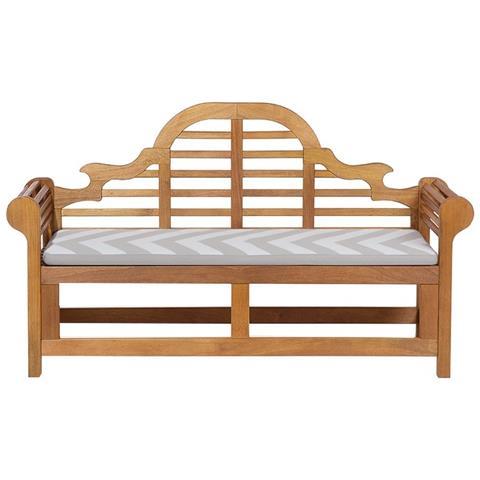 Panchina In Legno 180cm Con Cuscino Grigio Beige Zigzag Java Marlboro