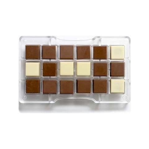 Decora Stampo cioccolatino quadro 25x25mm-275x175x22mm