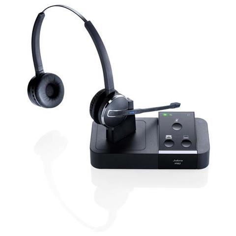 JABRA Cuffie Jabra PRO 9450 Duo Wireless DECTStereo - Over-the-head, Over-the-ear, Dietro il collo - Semi-Aperto - 150 m - Cancellazione del rumore