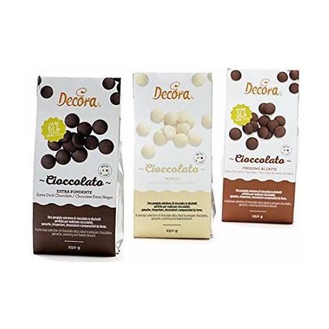 Cioccolato fondente in dischetti 250gr