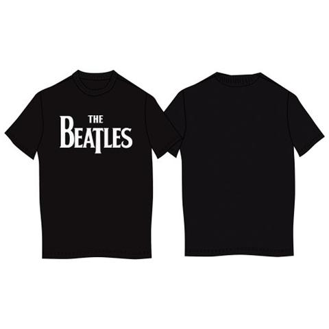 ROCK OFF Beatles (The) - Drop T Logo Black (T-Shirt Unisex Tg. 2XL)