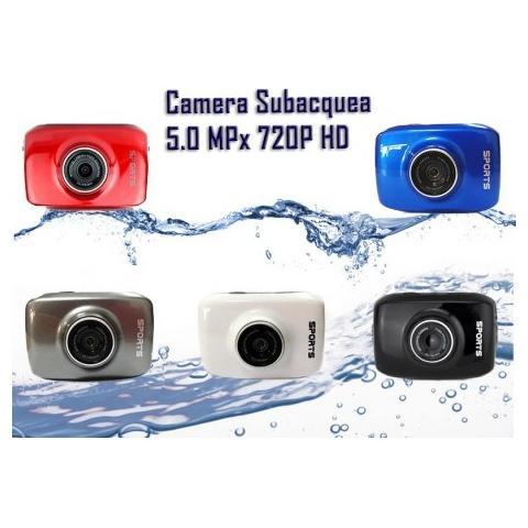 MWS Action Camera Camcorder Subacquea Hd 5.0mpx Lcd 2.0 Pollici + Accessori - Blu Elettrico