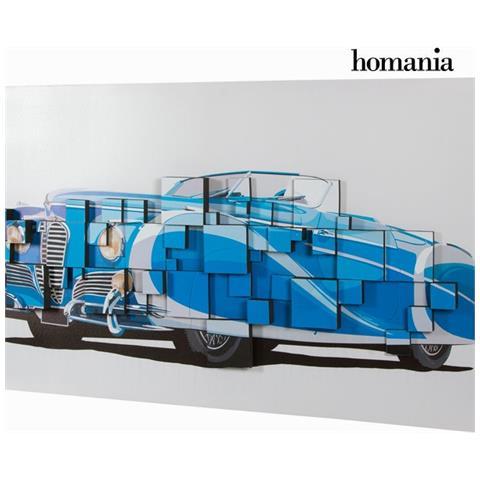 Homania Dipinto 3d Macchina Blu By