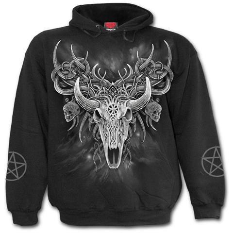 SPIRAL Horned Spirit Black (Felpa Con Cappuccio Unisex Tg. 2XL)