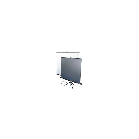 Schermo a Cavalletto Standard Double Projection 180 x180 Tela Reversibile Lenticolare Metallizzata / Bianco con Tenditore