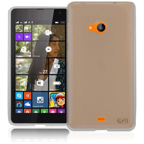 FONEX Pixel Cover in Morbido TPU con Retro Satinato per Microsoft Lumia 540 Colore Nero Trasparente