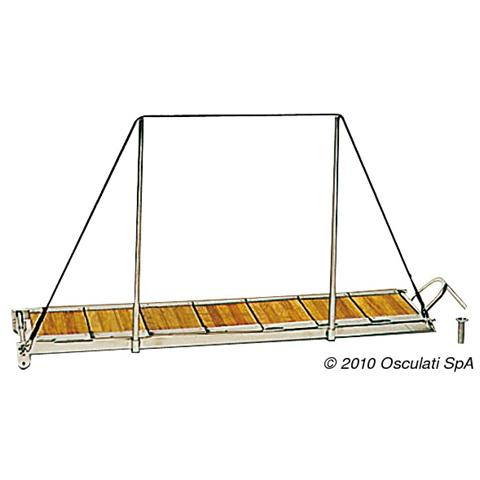 Passerella scaletta inox 150 cm