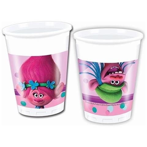 dreamworks Bicchieri Plastica Trolls, Festa Compleanno Ps 05610