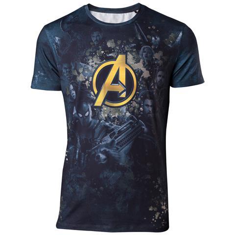 BIOWORLD Avengers Infinity War - Team Sublimation Print Multicolor (T-Shirt Unisex Tg. 2XL)
