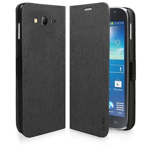 SBS TEBOOKSAGRNEK SMARTPHONE Custodia a libro in ecopelle per Samsung Galaxy Grand NEO / Grand Neo Plus, colore nero