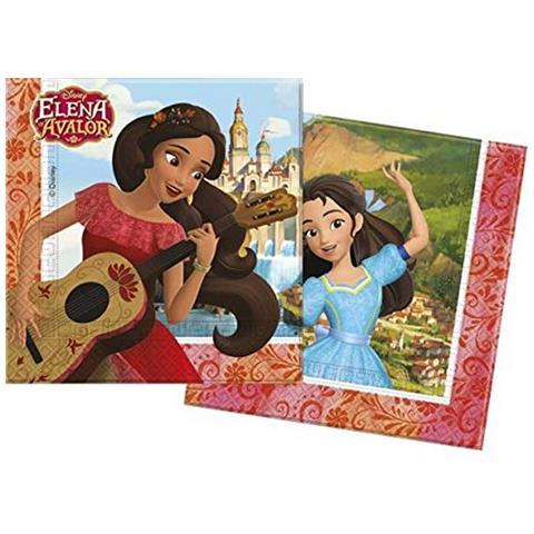 Disney Tovaglioli Carta Elena Avalor 33x33 Cm, Festa Compleanno Ps 08360