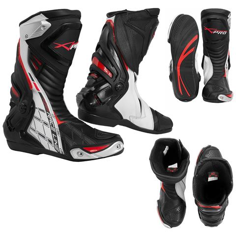 Stivali Omologati Ce Moto Quad Motocross Touring Sport Bianco 42