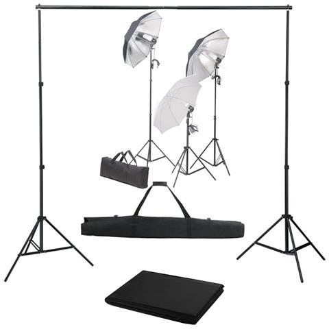 Kit Studio Fotografico Con Set Luci E Fondale