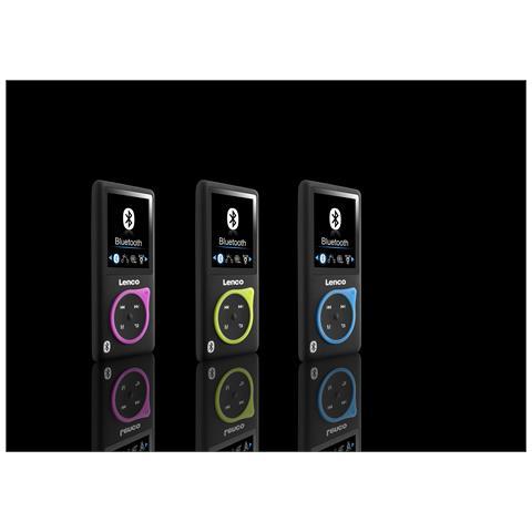 Lenco Xemio-767 BT 8GB, MP4, Nero, Blu, Digitale, Flash-media, 8 GB, MicroSD (TransFlash)