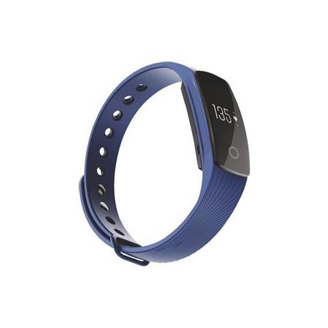"Techmade Activity Tracker T-Fit Display 0.49"" Bluetooth con Cardiofrequenzimetro e Pedometro Blu – Italia"