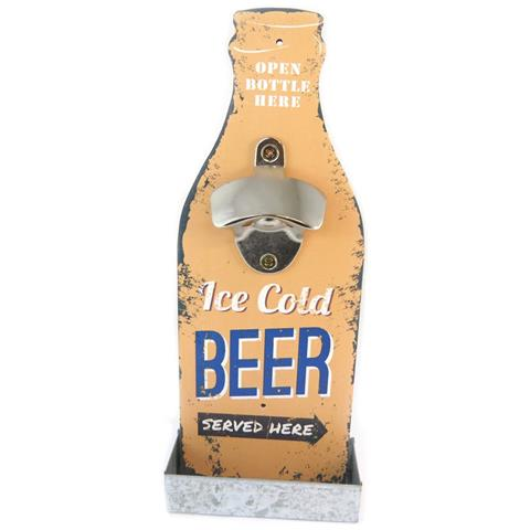 bottle opener 'birra' beige (birra ghiacciata servita qui) - [ p2076]
