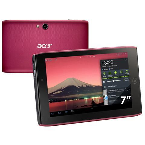 Iconia Tablet A100 Rosso / Nero Display 7'' Ram 1GB Memoria 8GB +microSDHC WiFi + Bt Doppi...