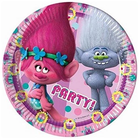dreamworks Piatti Carta Trolls 20 Cm, Festa Compleanno Ps 05607